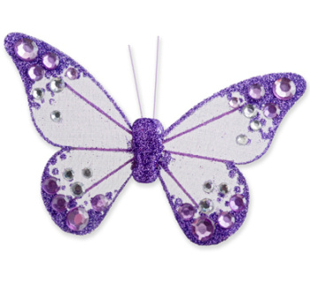 Lilac Organza Butterfly