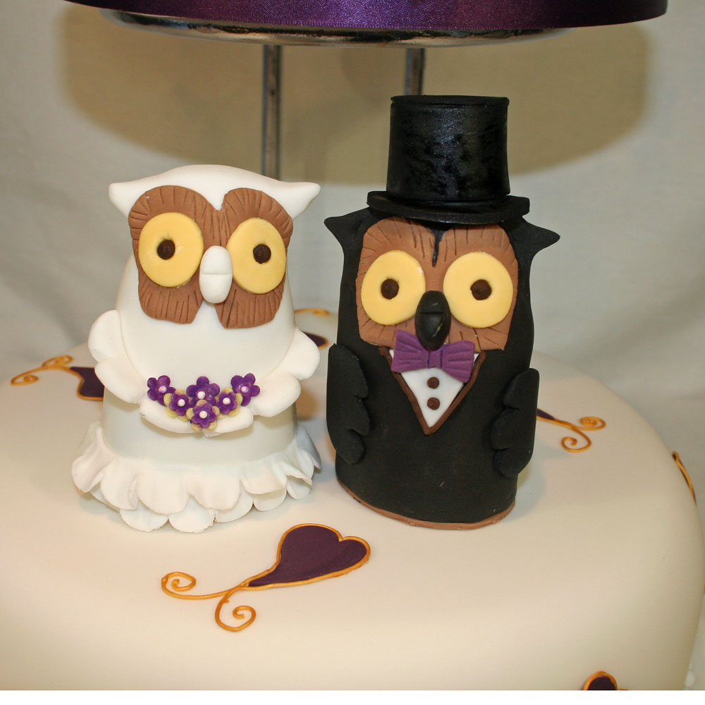 Sugarcraft Bride and Groom Owls