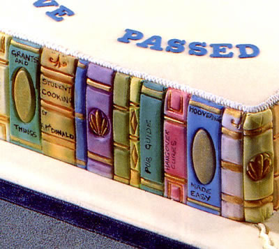 Cake Sides Decorated with a Book End Embosser