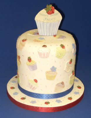 Cupcake Celebration Cake designed with Patchwork Cutters