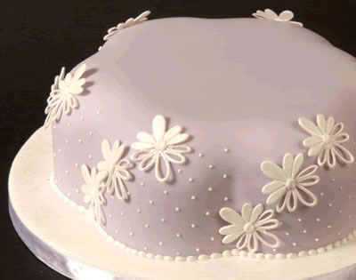 Cake Decorated with Embroidery Embosser