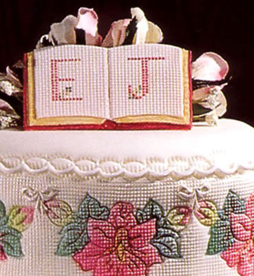 Embroidery Grid Cake Design