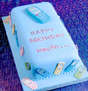 Mobile Phones Birthday Cake