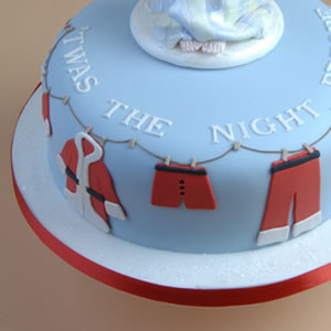 Santas Clothes Christmas Cake
