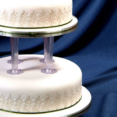Cake with Snowdrop Embossing
