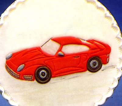 Sportscar Cake Decoration