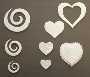 Swirl and Heart Cut Outs