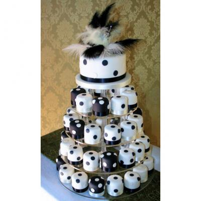 Black and White Spotty Wedding Cakes