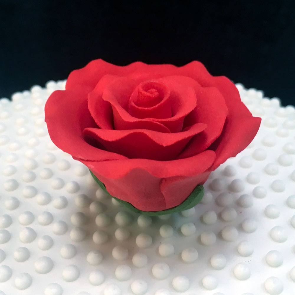 Large Red Sugar Rose