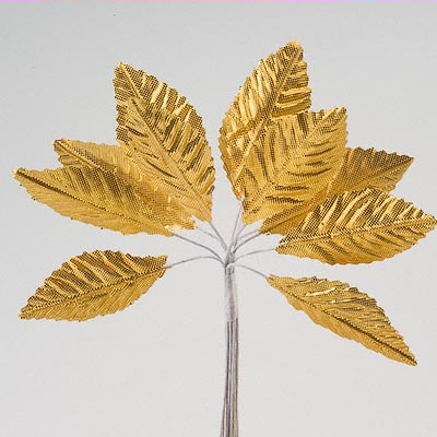 Gold Satin Leaves