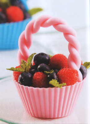 Silicone Cup Cake Case with Sugarcraft Handle