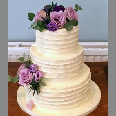 Rustic Buttercream Cake Front