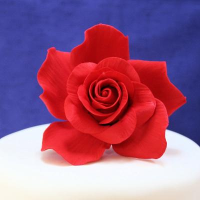 Giant Red Sugar Rose Cake Decorations