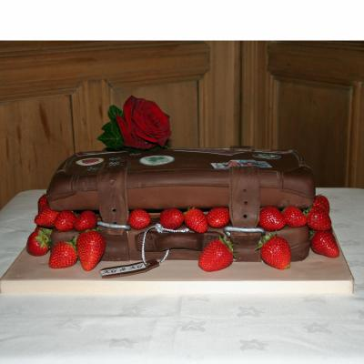 Fresh Scottish Strawberries in a Chocolate Suitcase