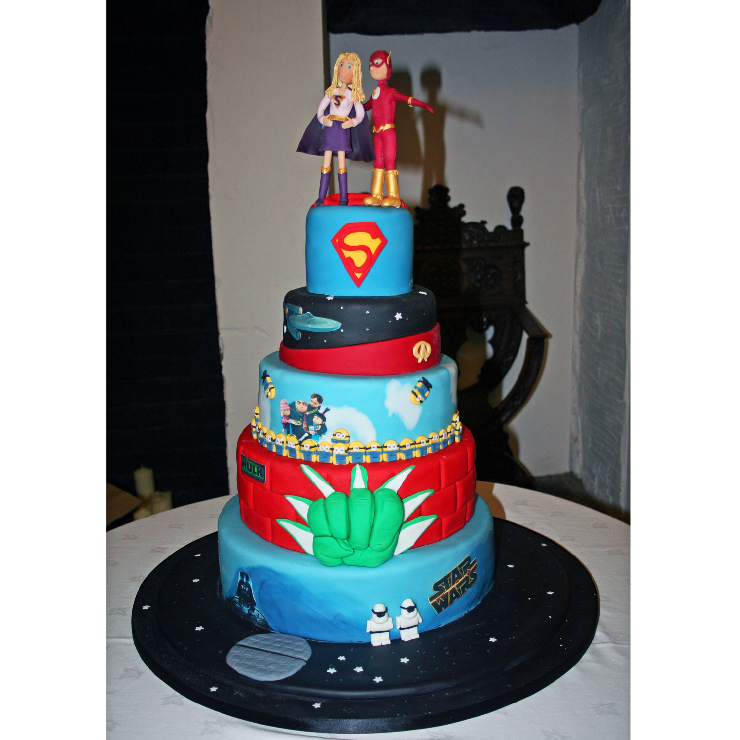 Super Heros Wedding Cake