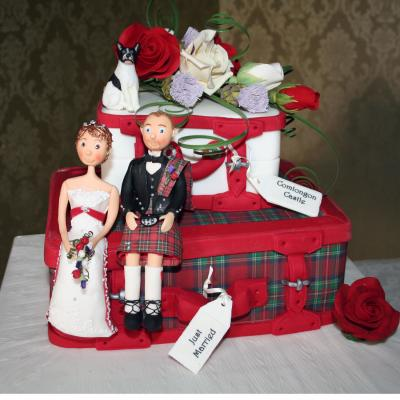 Wedding Cake Covered in Edible Tartan