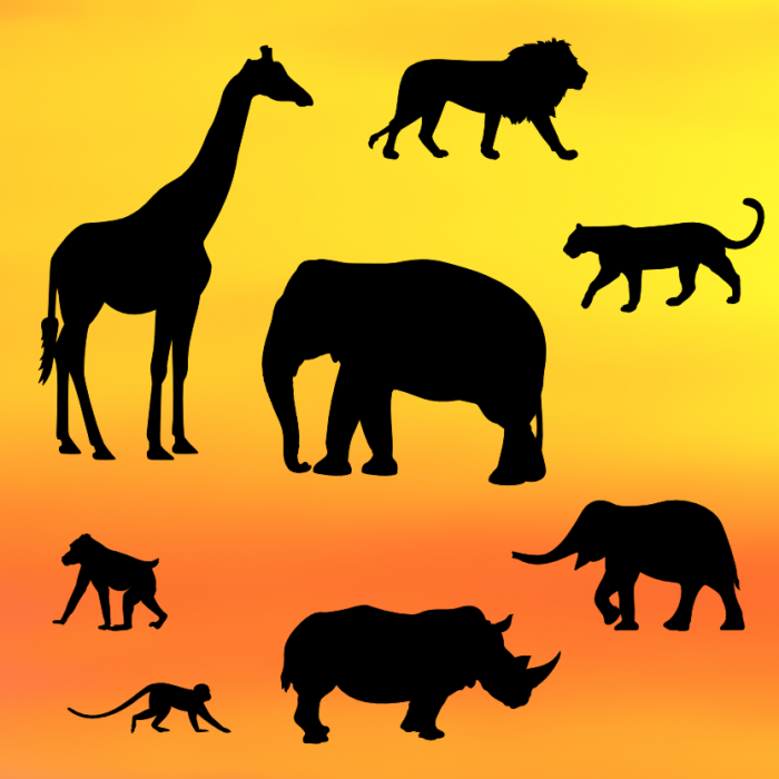 Safari Silhouette Set