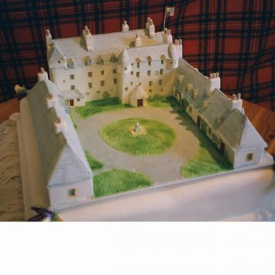 Traquair House Castle Wedding Cake