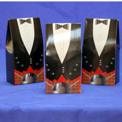 Scottish Tuxedo Favour Boxes