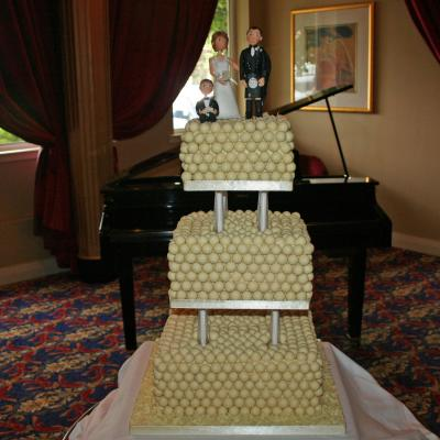 White Malteser Wedding Cake