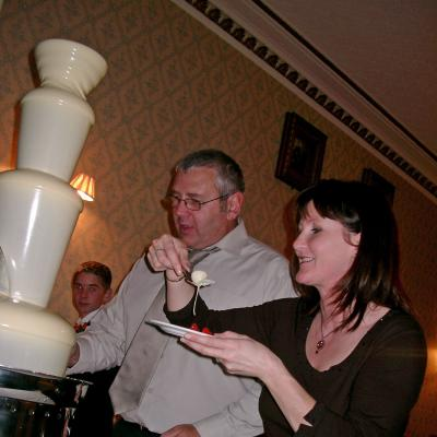 Guests Enjoying thier Chocolate Fountain Experience.