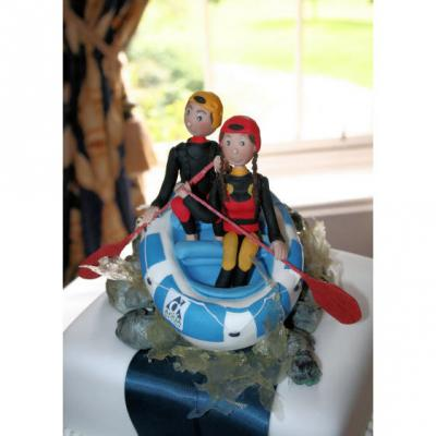 White Water Rafting Cake Topper