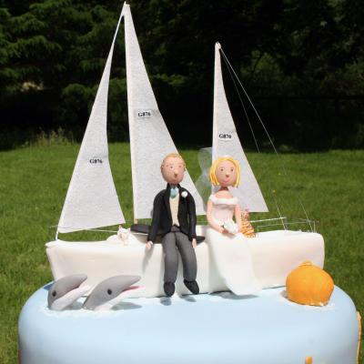 Yatch Wedding Cake Topper